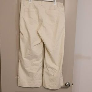 Gap size 14P wide leg high-rise chino pants
